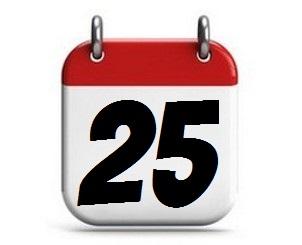 25. Tag des Monats