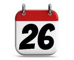 26. Tag des Monats