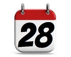 28. Tag des Monats