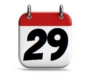 29. Tag des Monats