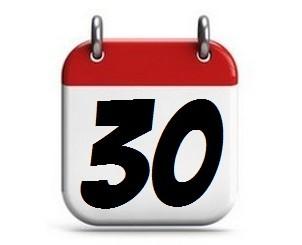30. Tag im Monat