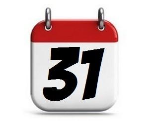 31. Tag des Monats