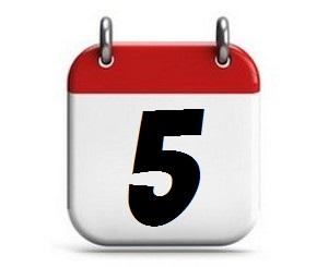 5. Tag des Monats