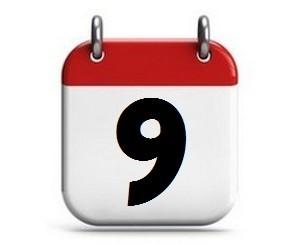 9. Tag des Monats