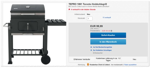 tepro toronto penny angebot ab 21 online g nstiger. Black Bedroom Furniture Sets. Home Design Ideas